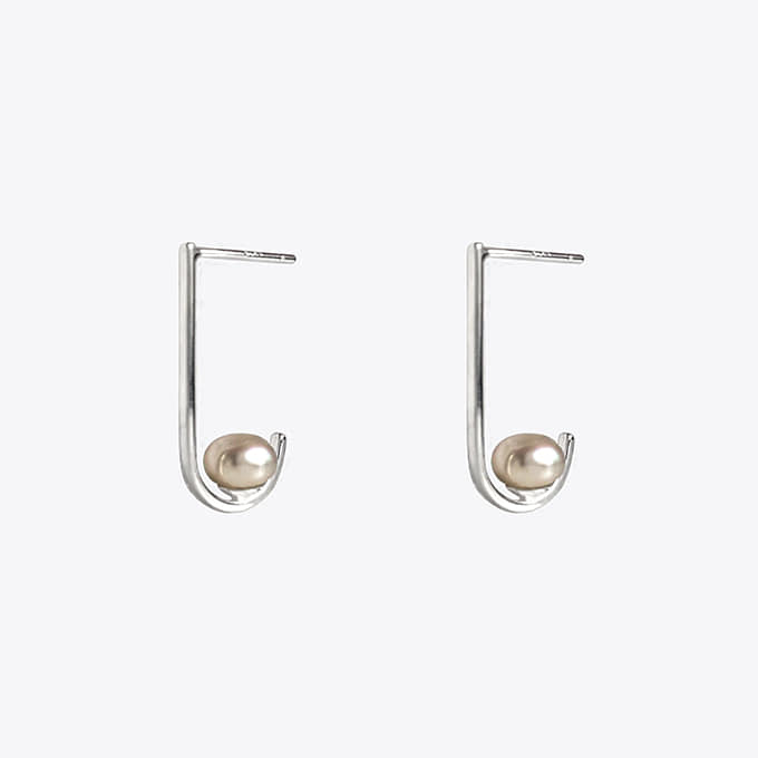 925 silver curve pearl earring 2